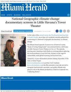 National Geographic climate-change documentary screens in Little Havana's To