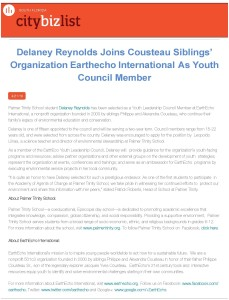 citybizlist _ South Florida _ Delaney Reynolds Joins Cousteau Siblings' Orga