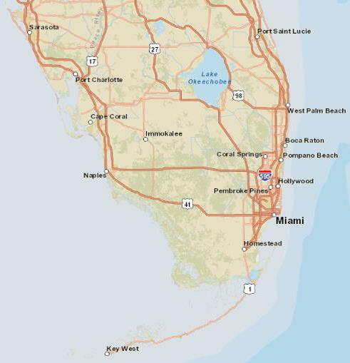 south florida maps sea level rise projections
